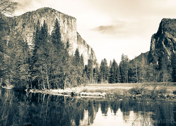 El Capitan over the Merced River, Yosemite