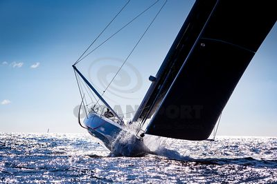IMOCA Bermudes 1000 at Fastnet Rock