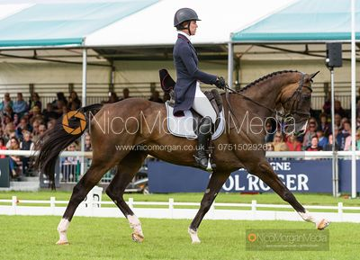Ariel Grald and LEAMORE MASTER PLAN - Dressage - Land Rover Burghley Horse Trials 2019