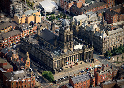 Leeds Town Hall aerial photograph