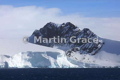 Weddell Sea landscape of rock, snow, ice and cloud, Antarctic Peninsula,  Antarctica