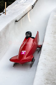 YOG Monobob Men Event on Olympia Bob Run in Saint Moritz