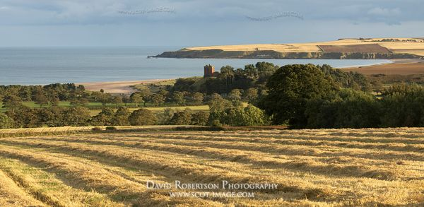 Image - Red Castle and Lunan Bay Panoramic, Angus, Scotland