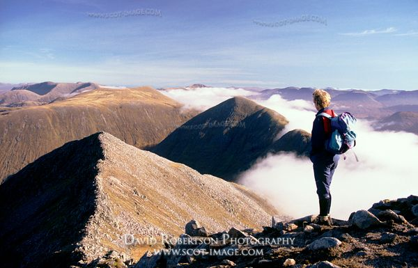 Image - Walker on Ben Starav near Glen Etive, Highland, Scotland