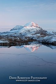 Image - Cul Beag reflected in Loch Sionascaig, Inverpolly, Scotland
