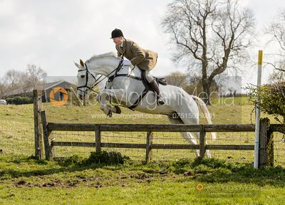 Jumping a hunt jump on Lammings. Cottesmore Fun Ride 2019