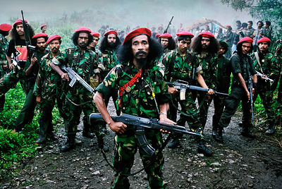 Falintil Guerillas, East Timor, March 1999.