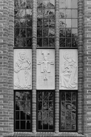 #120116 , Window of the main building, Ladywell Convent, Godalming, the Motherhouse of an International Catholic Religious Co...