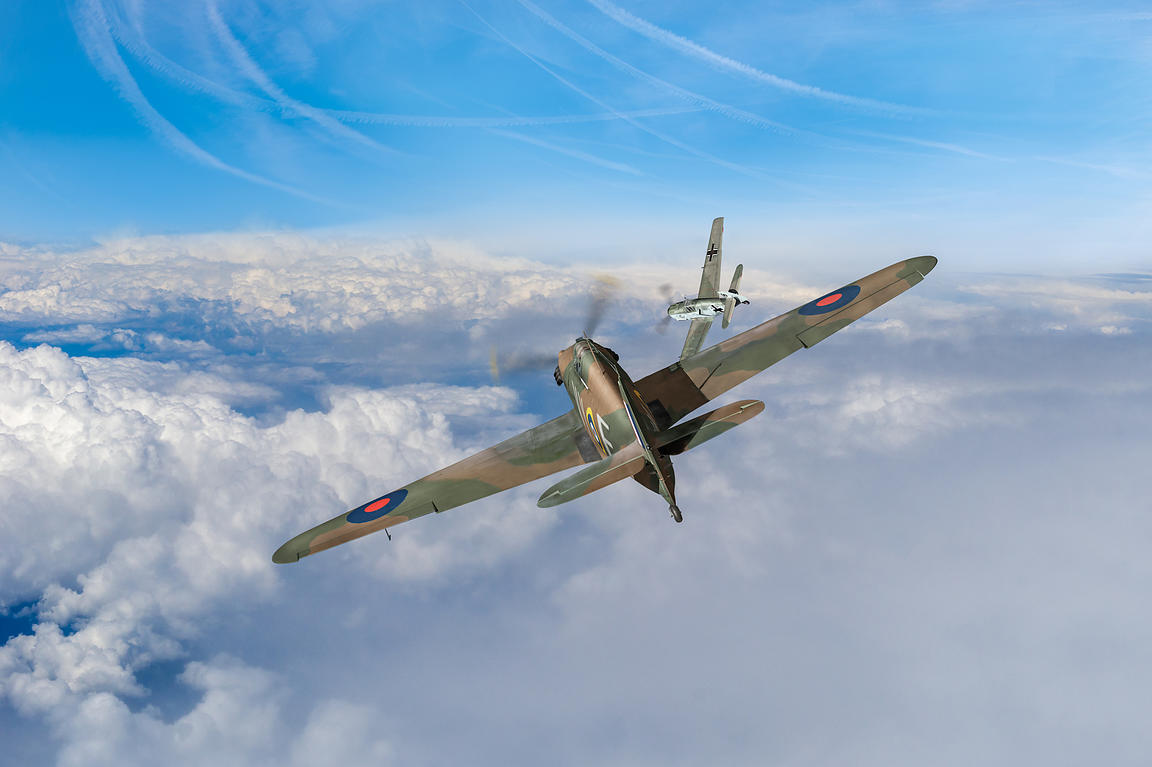 Hawker Hurricane deflection shot