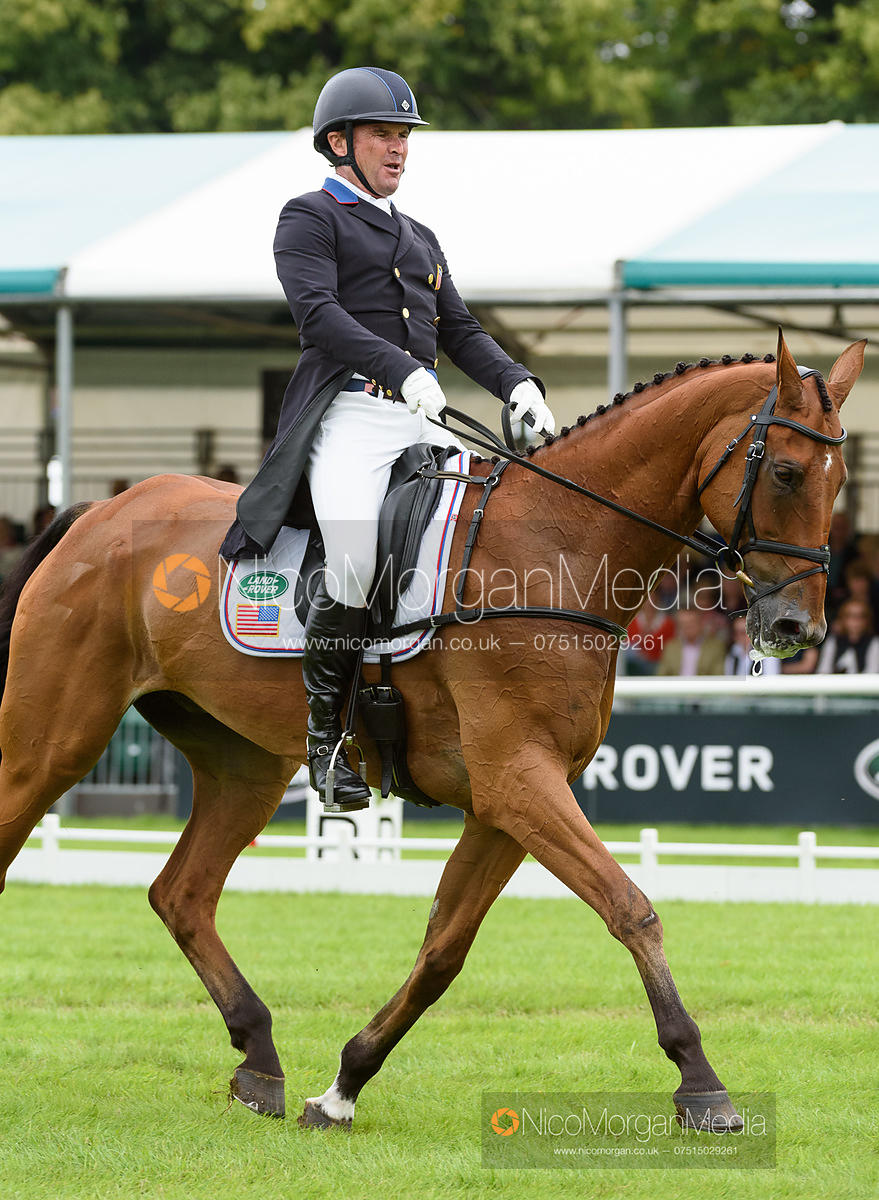 Phillip Dutton and FERNHILL FUGITIVE - dressage - Land Rover Burghley Horse Trials 2016