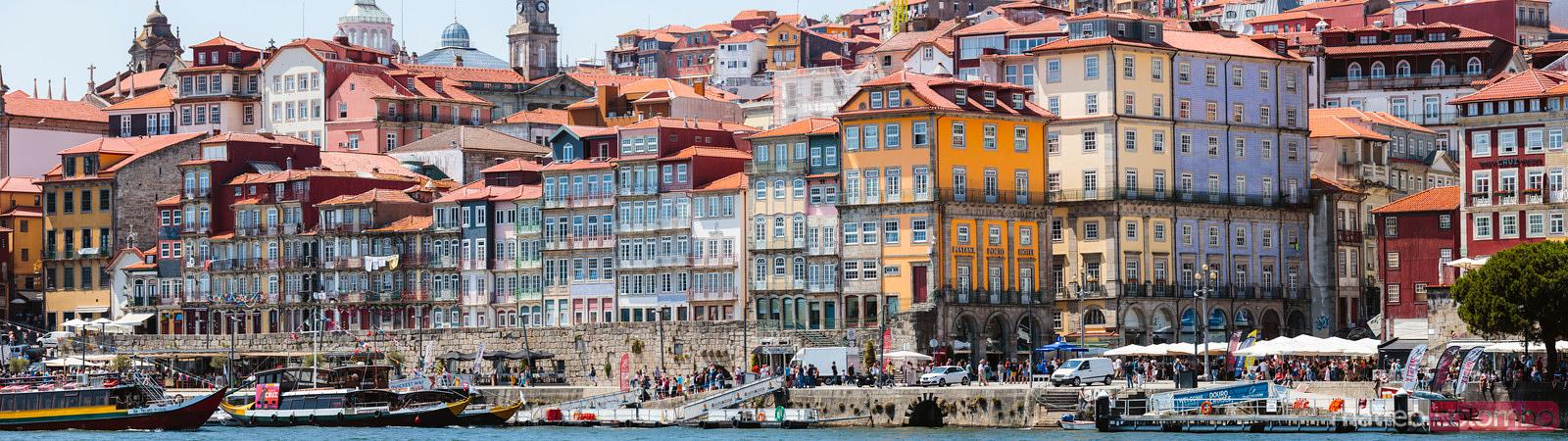 Ribeira district panoramic, Porto, Portugal