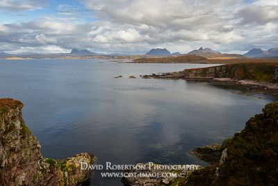 Image - Suilven, Cul Mor, Stac Pollaidh and Cul Beag viewed across Achnahaird Bay, Wester Ross, Highland, Scotland