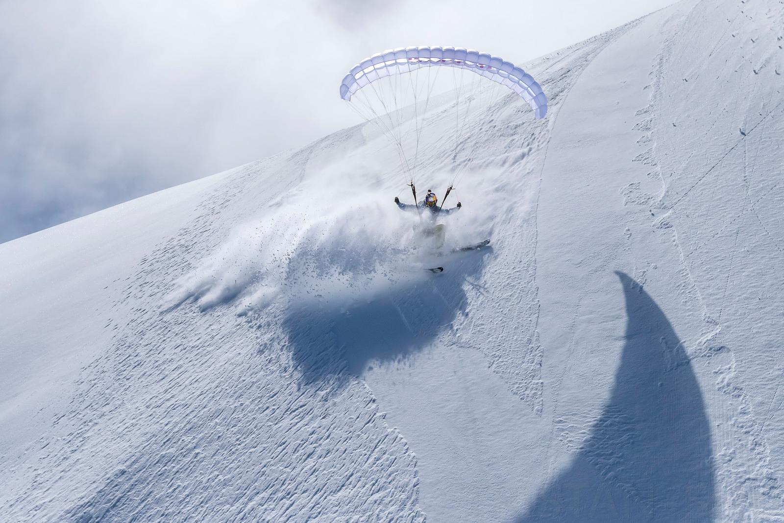 Speedriding the North Face of Aiguille du midi with Valentin Delluc