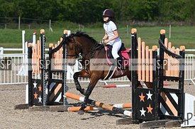 Unaffiliated showjumping. Brook Farm Training Centre. Essex. UK. 21/04/2019. ~ MANDATORY Credit Garry Bowden/Sportinpictures ...
