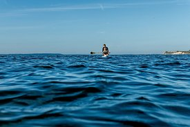 Standup paddle surfing on Mors, Denmark 12