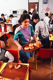 #4737,  Dining Room, block D, The Lord Byron School, Leninakan (now Gyumri), Armenia.  At 11.41am on the 7th December 1988, A...