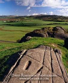 Image -  Carved footprint on Dunadd, Kilmartin Glen, Scotland