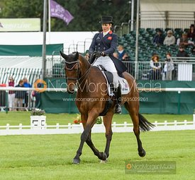 Sarah Bullimore and REVE DU ROUET - Dressage - Land Rover Burghley Horse Trials 2019