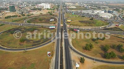 Villagio interchange, Accra from above, drone video