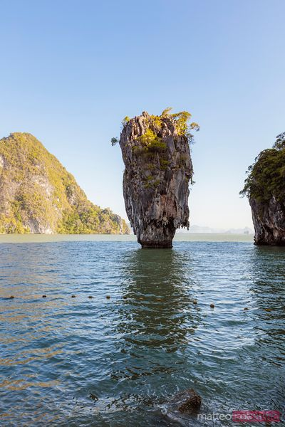 Famous James Bond Island (Ko Tapu), Phang Nga bay, Thailand