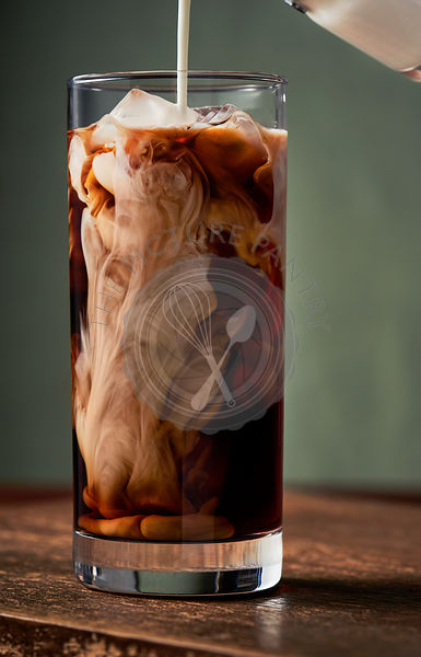 Iced coffee & cream
