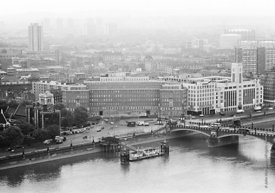 #124524,  View of the river Thames from the Victoria Tower, Houses of Parliament. 1973.