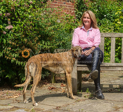 Piggy French with her lurcher Lurch