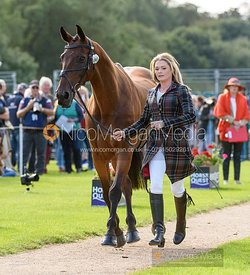 Julia Norman and CARRYON BOBBY BOY at the trot up, Land Rover Burghley Horse Trials 2019
