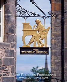 Image - Writers Museum Sign, Lawnmarket, Edinburgh, Scotland