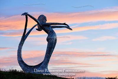 Image - Arria sculpture by Andy Scott at Cumbernauld, North Lanarkshire, Scotland