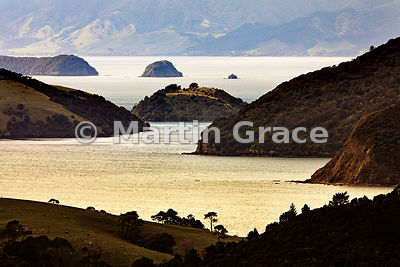Coromandel Harbour from the south, Coromandel Peninsula, North Island, New Zealand