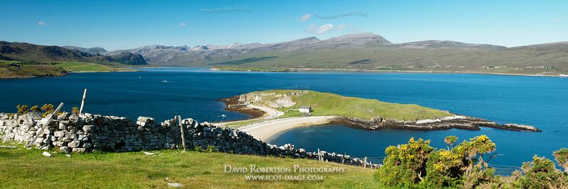Image - Tombolo, Loch Eriboll, Sutherland, Panorama