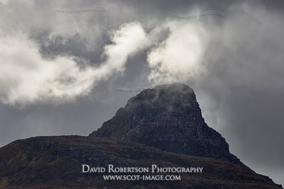 Image - Stac Pollaidh summit in stormy weather, Inverpolly, Wester Ross, Highland, Scotland