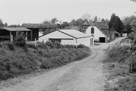 #120049, The farmyard at Ladywell Convent, Godalming, the Motherhouse of an International Catholic Religious Congregation – T...