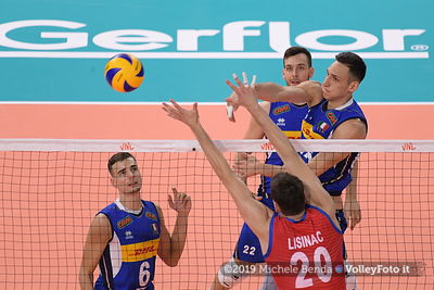 ITALIA vs SERBIA / VNL FIVB Volleyball Nations League 2019 Men`s Pool 14 Week 4 presso Allianz Cloud Milano, 21 giugno 2019 -...