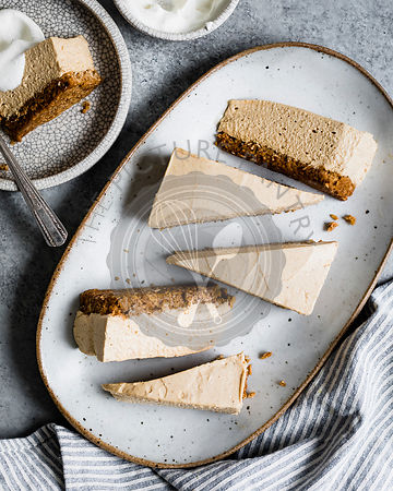 A no-bake pumpkin cheesecake