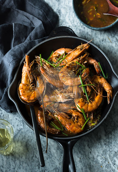 Pan Roasted Prawns
