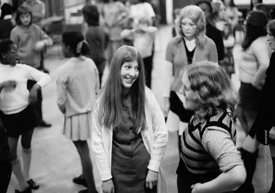#74696,  Anna Scher Children's Theatre, Bentham Court Hall, Islington, North London 1972.  Kids would come after school and b...