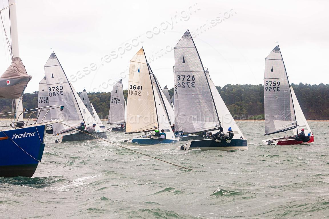 Merlin Rocket start, Parkstone Silver Tiller June 2019, 20190616267