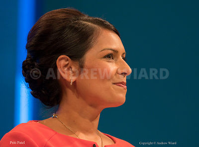 England, UK . 3.10.2017. Manchester . Conservative Party Conference, Tuesday. Priti Patel.