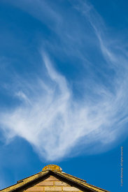 #64324,  Cirrus clouds high in the sky.