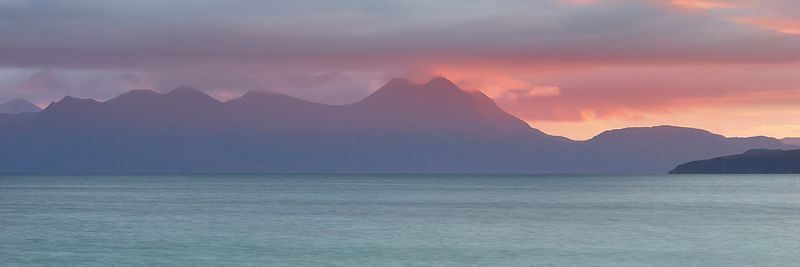 Image - Sunrise at Mellon Udrigle beach, Gruinard Bay, Wester Ross, Highland, Scotland.  View to Coigach over Gruinard Bay