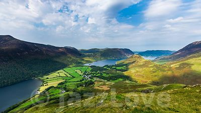 Clouds rolling over Buttermere lake and Crummock water.