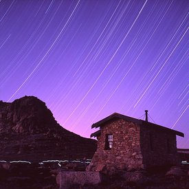 Star Trails over Mountain Hut