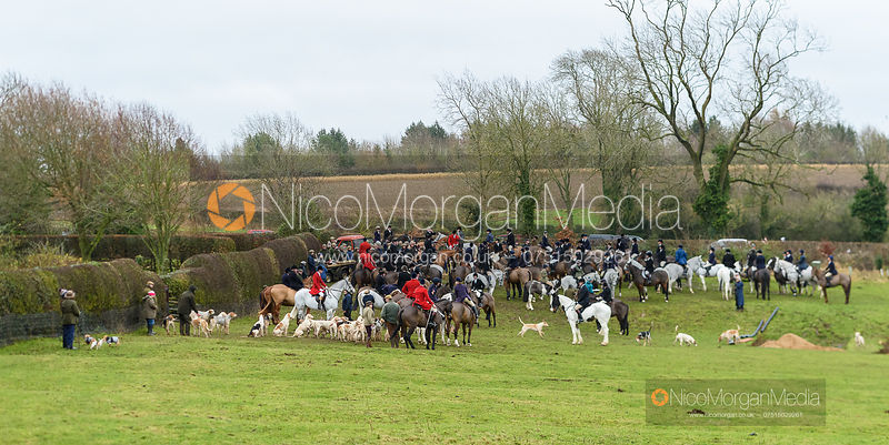 At the meet. The Cottesmore and Fernie Hunts at Hill Top 10/12
