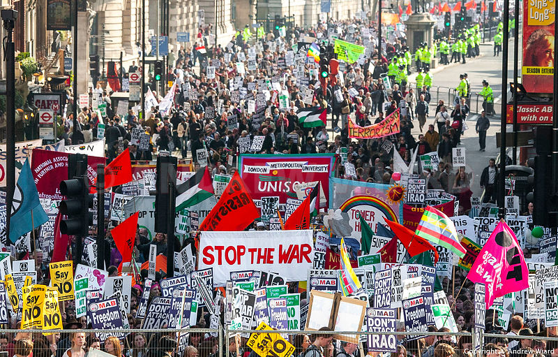 England, UK. 22.3.2003. London. Two day after the start of the Iraq  War, the largest anti-war demonstration during wartime, ...