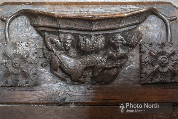 GREYSTOKE 08A - Misericord, St Andrew's Church