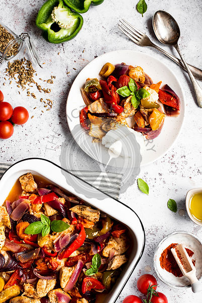Mediterranean Summer Traybake With Chicken And Roasted Vegetables