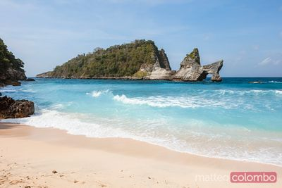 Atuh beach with natural arch, Nusa Penida, Bali, Indonesia