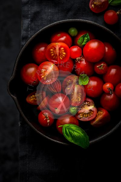 Still Life of Cherry Tomatoes
